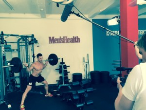 Videoshooting für Men's Health